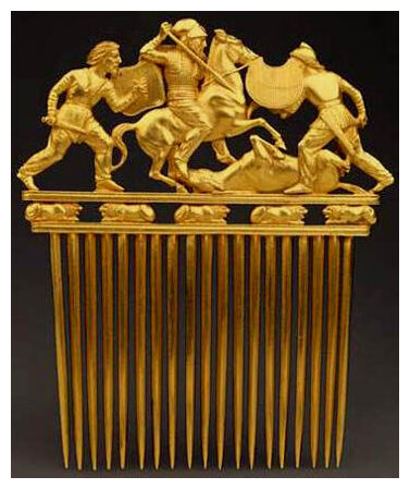 A gold Scythian artifact.
