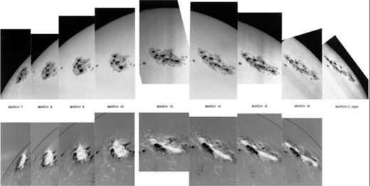 Sunspot 5395, source of the March 1989 solar storm