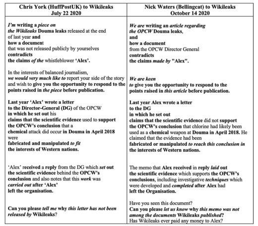 emails Bellingcat OPCW whistleblower