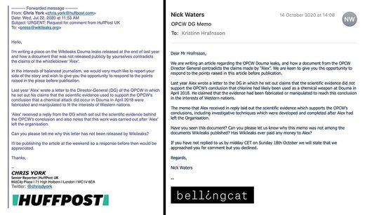 bellingcat Huffpost emails OPCW