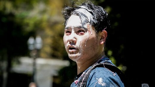 andy ngo attacked milkshake antifa