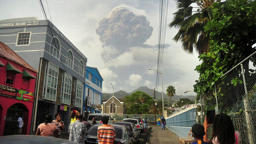 La Soufriere volcano st vincent eruption
