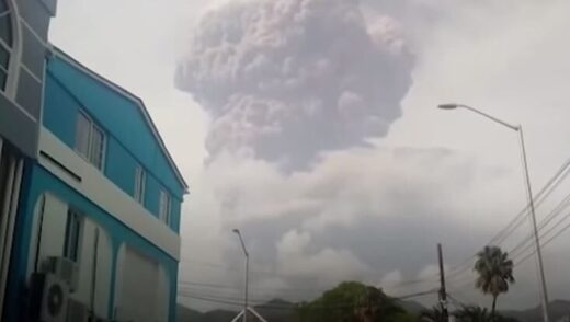 St Vincent volcano eruption