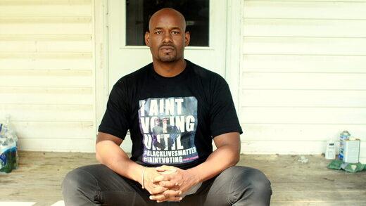 Black Lives Matter activist Hawk Newsome