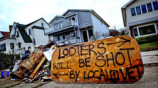Looters sign