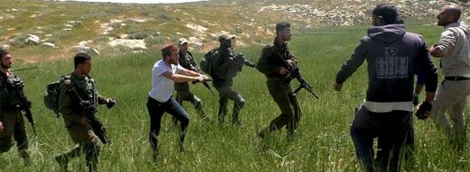illegal settlers IDF soldiers attack