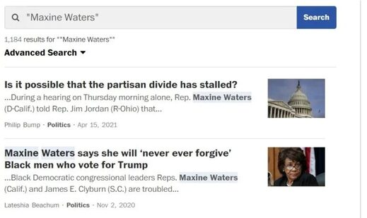 maxine waters washington post wapo