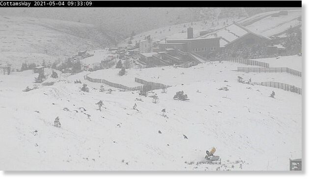 Snow sweeps the Scottish Highlands as white stuff piles up in May