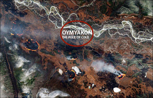1 May 2021 wildfire south of Oymyakon (Yakutia)
