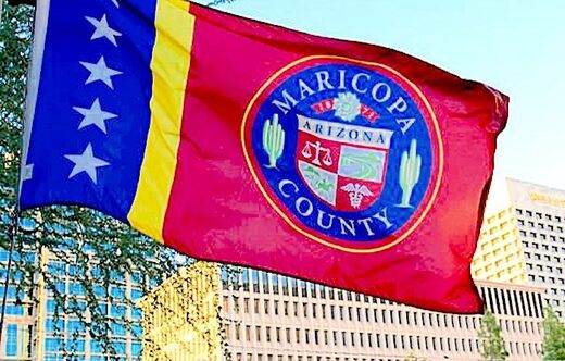 Maricopa Flag and buildings