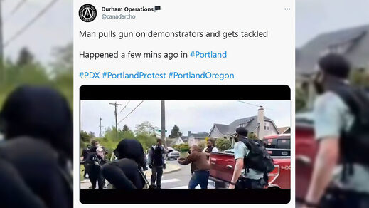 portland antifa armed threat