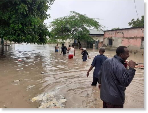 Floods in Mogadishu, Somalia, May 2021.