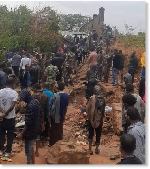 Nine people were killed yesterday when a 50 meter concrete wall collapsed on residential houses following four hours nonstop heavy rain in Dire Dawa city.
