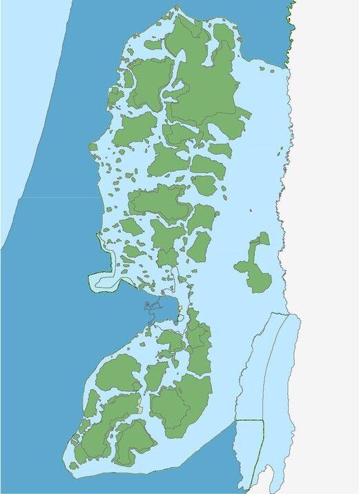 israel apartheid map occupation