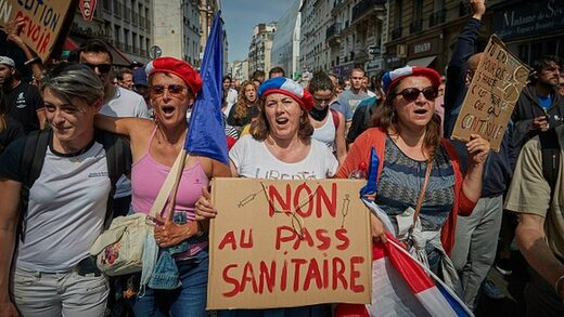 france covid protest