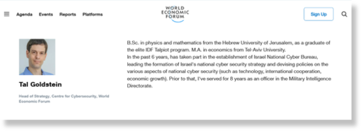 partnership with former Israeli intelligence officials