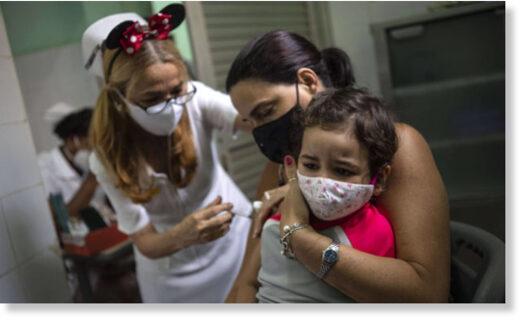 cuba vaccination covid children