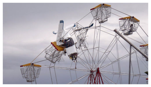 Plane Crashes into Ferris Wheel