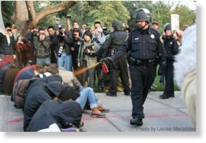 pepper spray, police