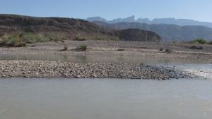 Oct. 31, 2011: The Rio Grande river flows past Big Bend National Park, Texas.