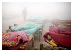 Cold Wave in UP, India