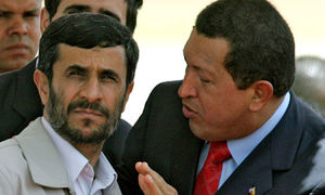 Hugo Chávez with Ahmadinejad