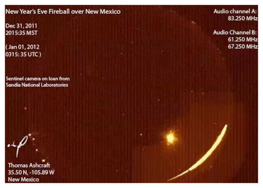 New Year's Fireball - 2012