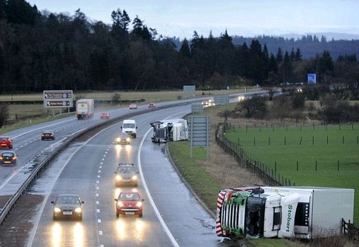 UK storm overturned lorry 2