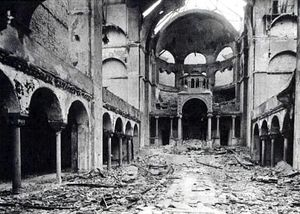 Berlin synagogue after Kristallnacht