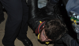 occupy protestor detained @ Austin