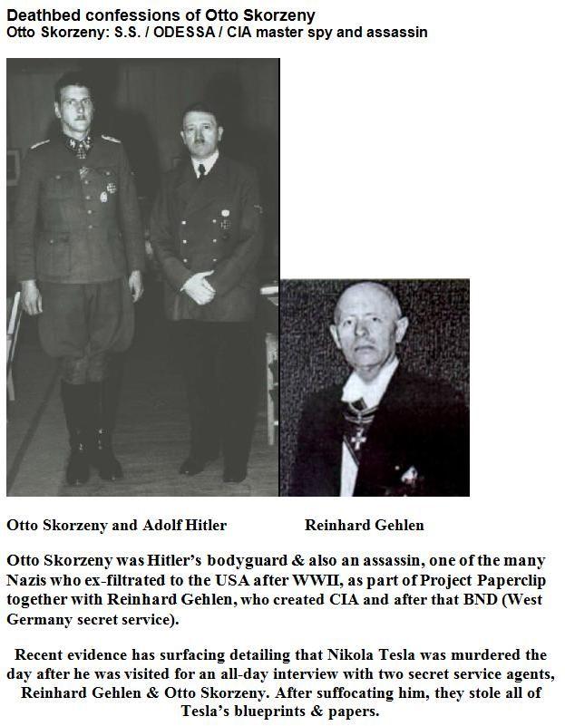 Nikola Tesla Was Murdered By Otto Skorzeny Secret History