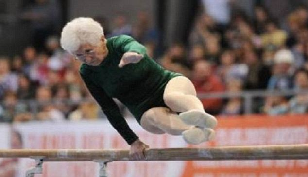 Johanna Quaas showed off her gymnastics skills at the 2012 Cottbus World Cup - 86-year-old!