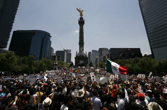 People Power: Youth protest former Mexican ruling party's rise in mass demonstration