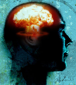 human head atomic blast illus