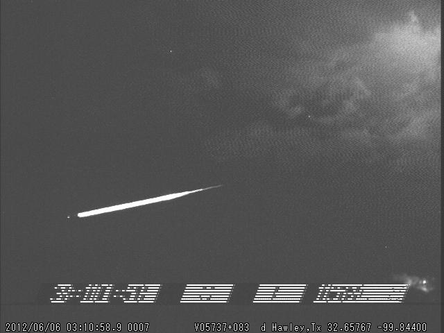 Large Fireball Over West Oklahoma and North Texas