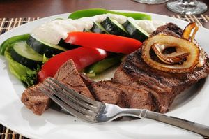 steak and vegies