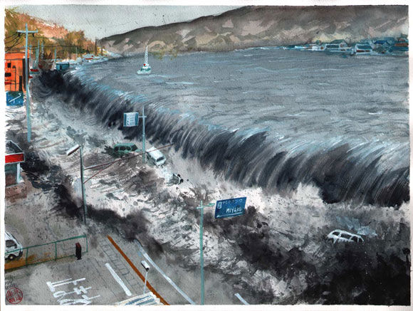 Scientists theorise that scale of japanese tsunami due to collapse of