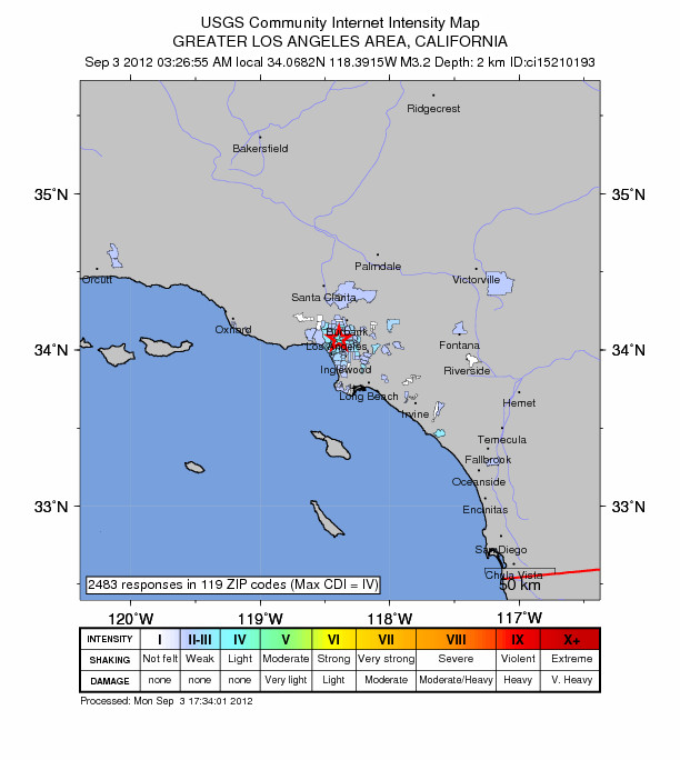 Beverly Hills Earthquake of 3.3 Felt Across Los Angeles