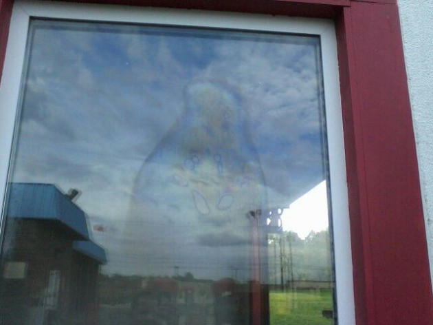 Car wash worker sees image of the Virgin Mary