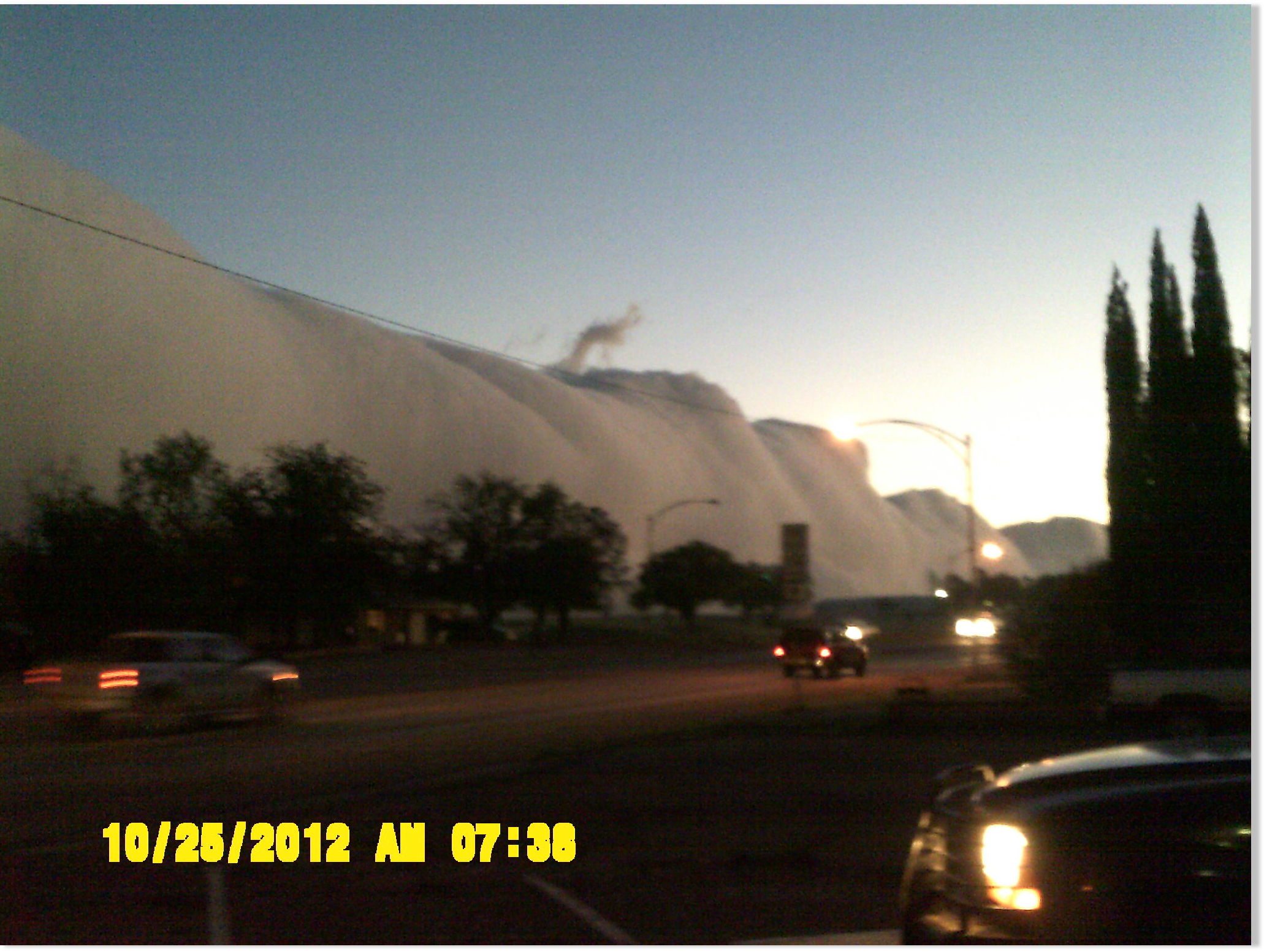 Amazing Roll Cloud Over Andrews Texas Earth Changes
