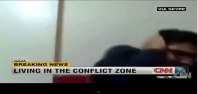 Shocking CNN Interview Cut Off by Gaza Bomb Blast