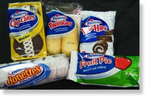Hostess, twinkies, cup cakes, fruit pie