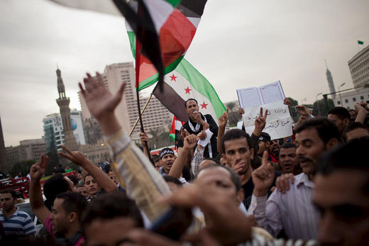 Tahrir Square protests against israel