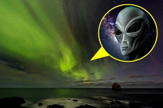 Are we being watched? 'Alien' reaches out through Northern Lights