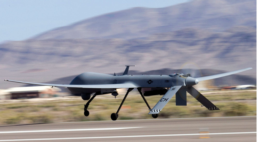 Military drones prowl U.S. skies