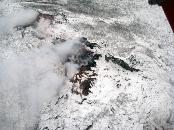 Alaska burning? Explosion near Eagle leads to mysterious geologic ground craters - meteor landing or mini volcano crater?