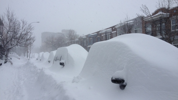 Record-breaking snowfall in Montreal: 47 centimetres of snow in one day