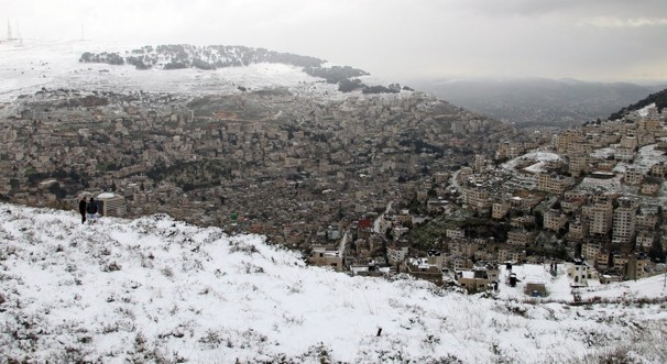 Snow blankets parts of Middle East, Jerusalem
