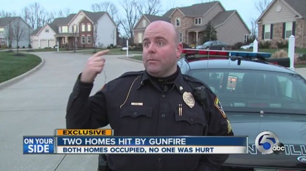 Recreational assault weapons fire riddles Ohio home, narrowly misses officer