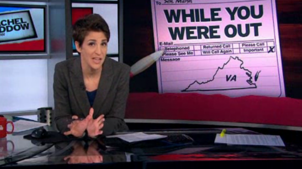 Rachel Maddow: Republicans now openly rigging elections in Virginia and other states